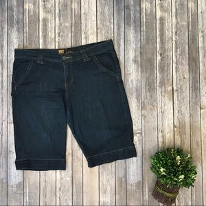 "KUT 12 Bermuda Denim Jean Shorts 12"" Inseam #405"